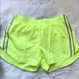 Neon yellow running shorts. Never been worn